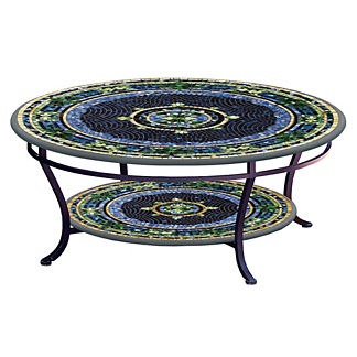 KNF Lake Como Round Double-Tiered Coffee Table