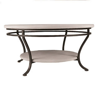 Oasis Round Double-Tiered Coffee Table