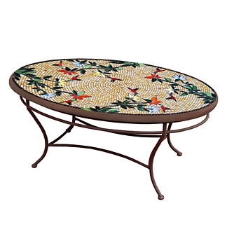 KNF Caramel Hummingbird Oval Coffee Table