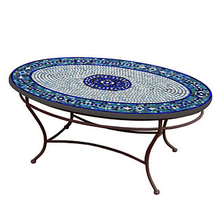 KNF Seafoam Atlas Oval Coffee Table