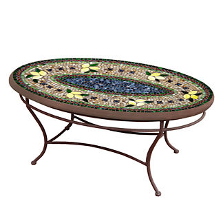 KNF Tuscan Lemons Oval Coffee Table
