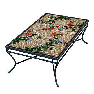 KNF Caramel Hummingbird Rectangular Coffee Table