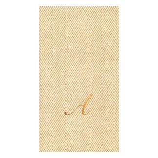 Caspari Jute Paper Linen Guest Towels, Set of 24