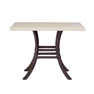 Skye Faux Travertine Square Dining Table by Summer Classics