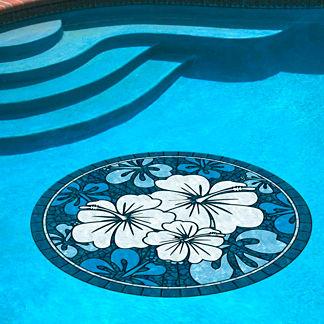 Blue Hibiscus Pool Mat
