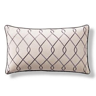 York Lattice Decorative Pillow
