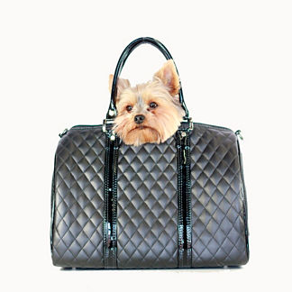 Quilted Luxe Duffel Pet Carrier