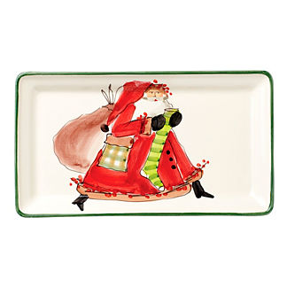 Vietri Old Saint Nick Platter