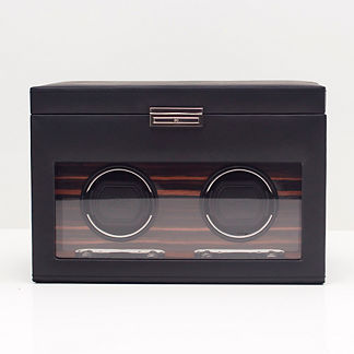 Roadster Double Watch Winder with Storage