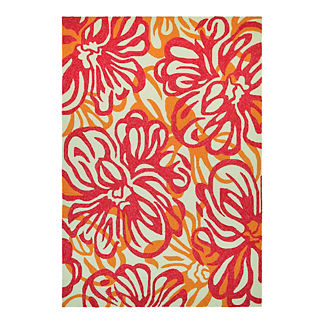 Rose Mallow Outdoor Rug