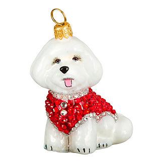 Diva Dog Bichon in Crystal Coat Ornament