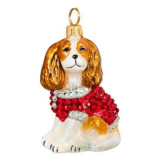 Diva Dog Cavalier King Blenheim in Crystal Coat Ornament