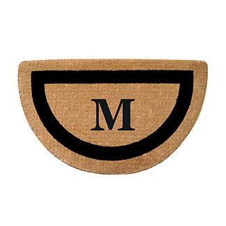 Classic Border Half-round Monogrammed Coco Door Mat
