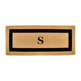 Classic Border Monogrammed Coco Door Mat