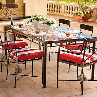 Roma Rectangular Dining Table with Chairs Cover