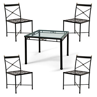 Roma Square Dining Table with Chairs Cover