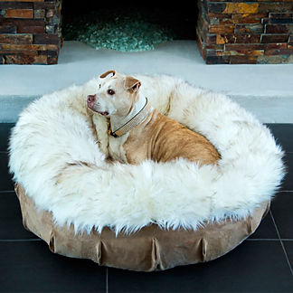 Animals Matter Faux Fur Puff Pet Bed