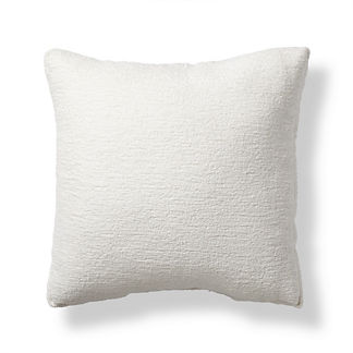 Terry Cloth White Boxed Outdoor Pillow