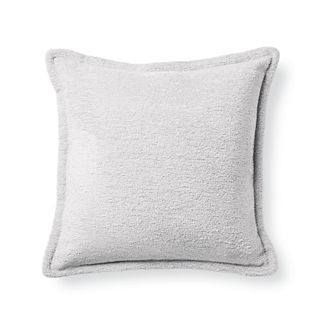 Terry Cloth White Flanged Outdoor Pillow