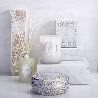 Voluspa Suede Blanc Candle and Diffuser Collection