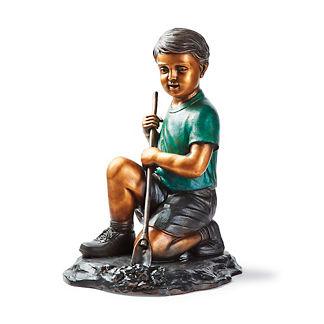 Boy Spring Gardening Statue