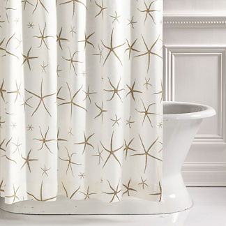 Tybee Natural Shower Curtain