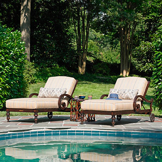Tommy Bahama Black Sands Chaise Lounge with Cushions