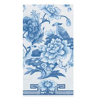 Caspari Blue & White Guest Towels, Set of 30