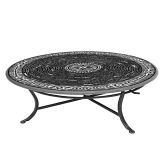 Batik Round Single-Tiered Coffee Table
