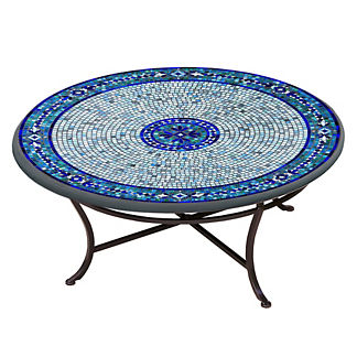KNF Seafoam Atlas Round Single-Tiered Coffee Table