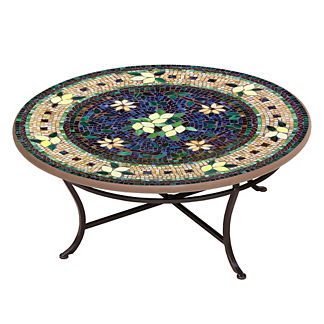 KNF Tuscan Lemon Round Single-Tiered Coffee Table