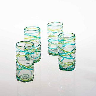 Margaritaville Swirl Highball Glasses, Set of Four