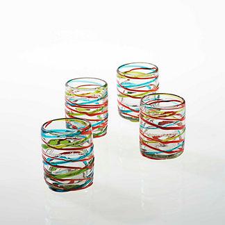 Margaritaville Swirl Old Fashioned Glasses, Set of Four