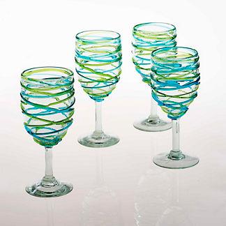 Margaritaville Swirl Wine Goblets, Set of Four