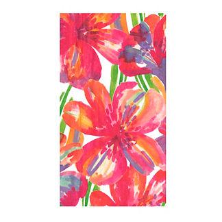 Caspari Floral Pop Guest Towel