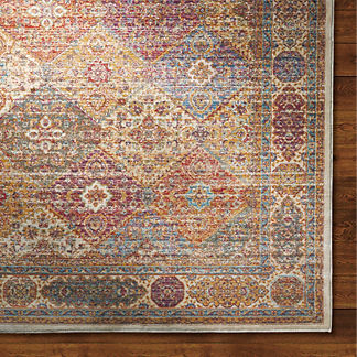Moroccan Tile Viscose Area Rug