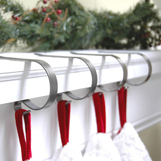 Mantel Clip Stocking Holders, Set of Four