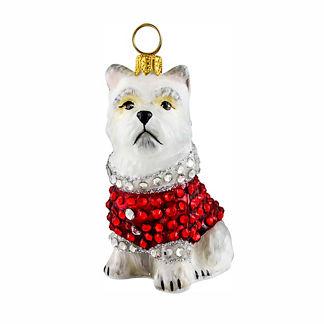 Diva Dogs Westie in Full Crystal Coat