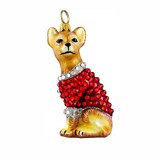 Diva Dog Chihuahua in Crystal Coat Ornament