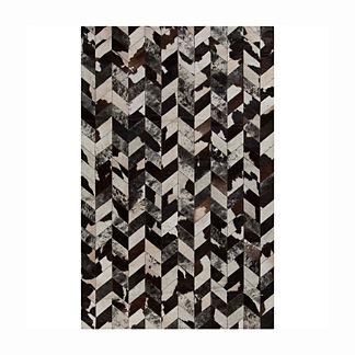Brasada Hair on Hide Area Rug in Black/Ivory/Chocolate