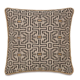 Maori Stone Decorative Pillow with Cording
