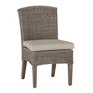 Astoria Wicker Side Chair with Cushion by Summer Classics
