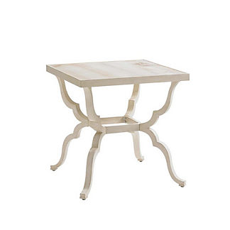 Misty Garden Square End Table by Tommy Bahama