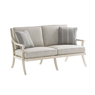 Misty Garden Loveseat with Cushions by Tommy Bahama