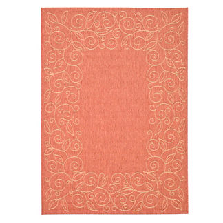 Courtyard Scroll Indoor/Outdoor Rug