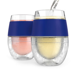 FREEZE Cooling Wine Glasses, Set of Two