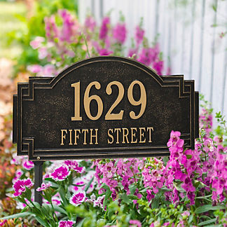 Willow 1-line Standard Address Plaque