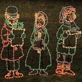 Set of Three Lighted Carolers