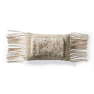 Felix Wool Fringe Lumbar Pillow