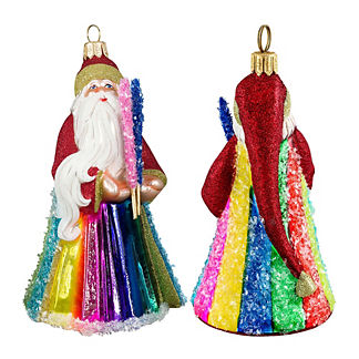 Glitterazzi Rockin' Candy Santa Ornament